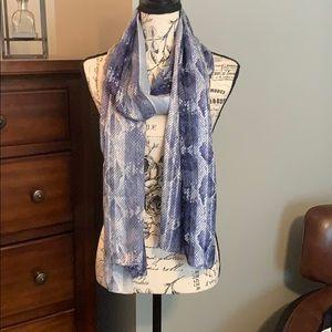 White house black market blue snake Prince scarf